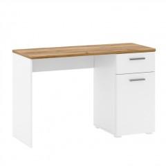 CANDY стіл письмовий 1d1s/120 [T2] дуб craft темний / білий