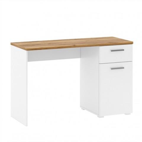 CANDY стол письменный 1d1s/120 дуб craft темный / белый