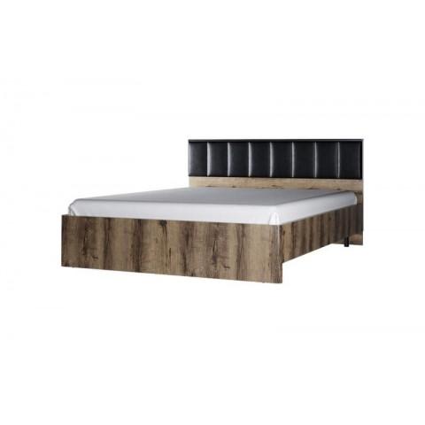 JAGGER ліжко 160 (м'яке ізголів'я) з підйомником дуб монастирський / чорний