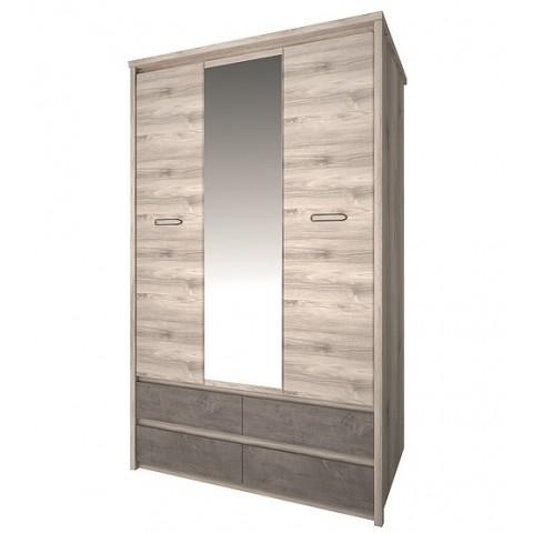 JAZZ шкаф с зеркалом 3d4s каштан nairobi / оникс