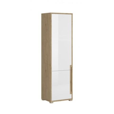 LUCAS шкафчик 2d левый белый lakier глянец / дуб каменный