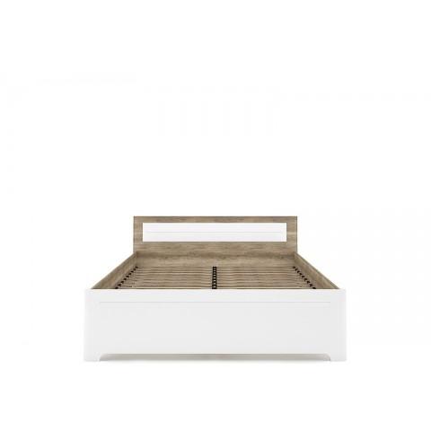 MULATTO ліжко 160 дуб canyon / білий глянець