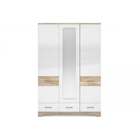 MULATTO шафа з дзеркалом 3d3s дуб canyon / білий глянець