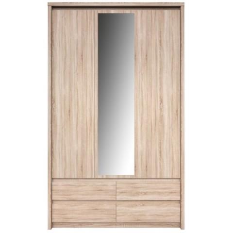 NORTON шкаф с зеркалом 3d4s дуб sonoma