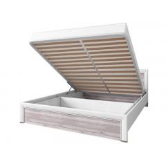 OLIVIA ліжко 140 з підйомником крем / дуб ancona