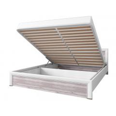 OLIVIA ліжко 160 з підйомником крем / дуб ancona