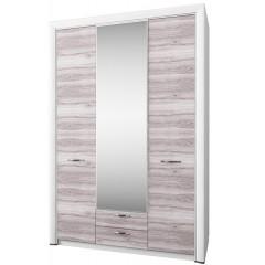 OLIVIA шафа з дзеркалом 3d2s крем / дуб ancona