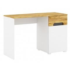 ONYX стіл письмовий 1d1s/120 дуб craft золотий / білий