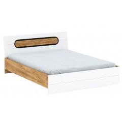 RODAN ліжко 160 дуб craft золотий / білий глянець