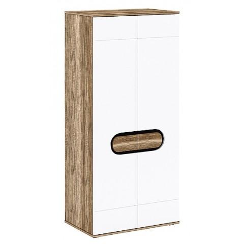 RODAN шкаф 2d дуб craft золотой / белый глянец