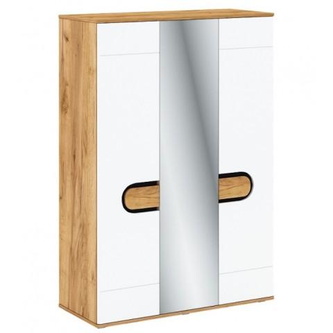 RODAN шкаф с зеркалом 3d дуб craft золотой / белый глянец