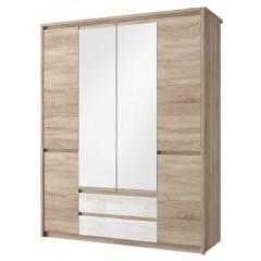 SOMMA шафа з дзеркалом 6d2s дуб sonoma