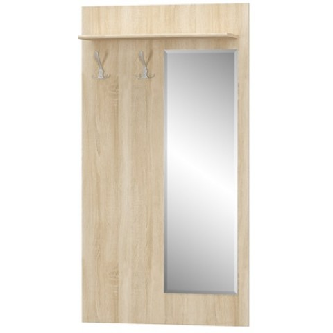 TIPS вешалка с зеркалом дуб sonoma