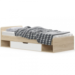 TIPS ліжко 1s/90 дуб sonoma / білий