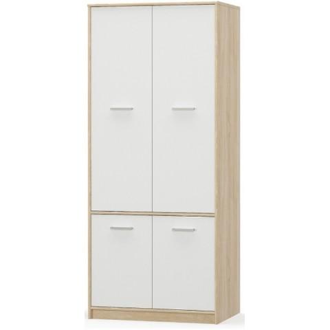 TIPS шкаф 4d дуб sonoma / белый