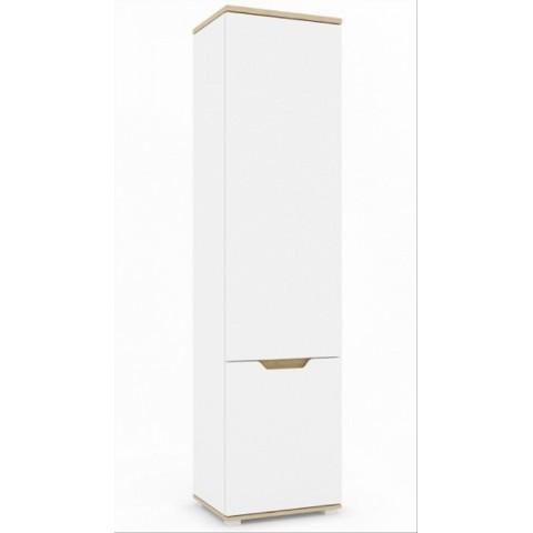 VALLES шкафчик 2d левый дуб каменный / белый