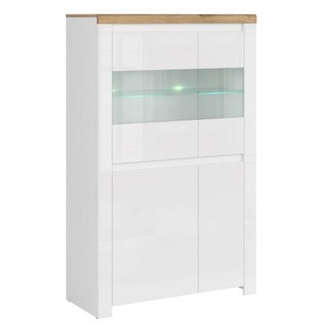 VIGO витрина низкая 2d2w [C] белый глянец