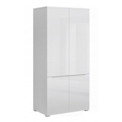 YOLK шкаф 4d белый глянец